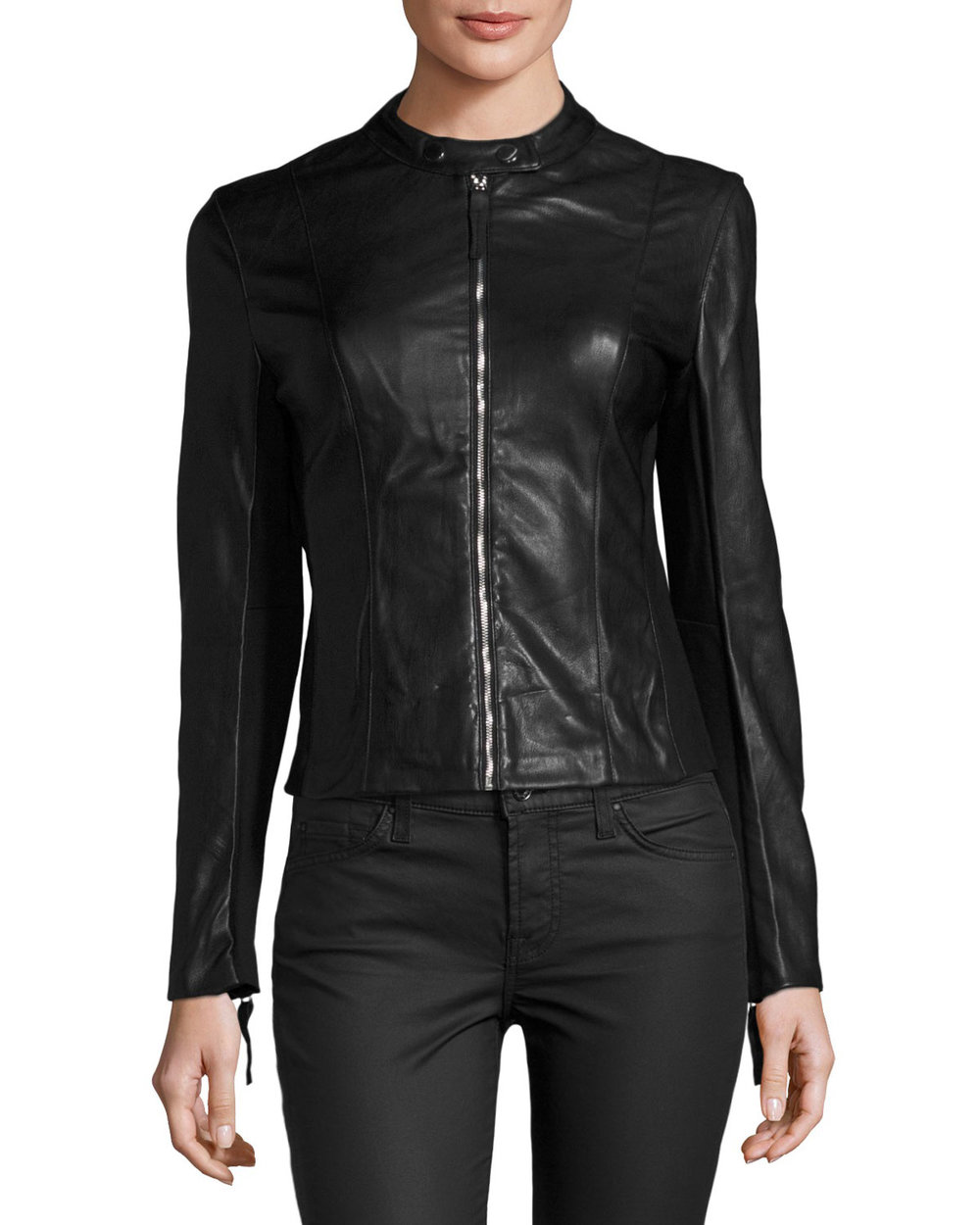 Faux-Leather Moto Jacket. Neiman Marcus Last Call. Was: $98. Now: $69. Spend $100 to get $50 off.
