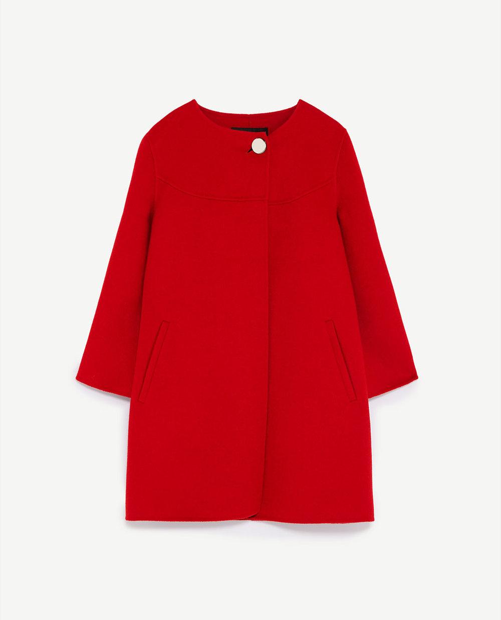 BUTTONED COAT. Zara. $189.