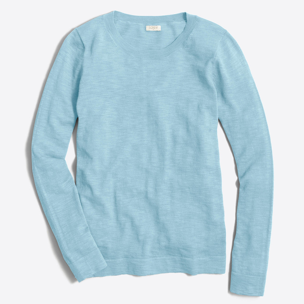 TEDDIE SWEATER. Available in multiple colors. J.Crew Outlet. Was: $59. Now: $34.