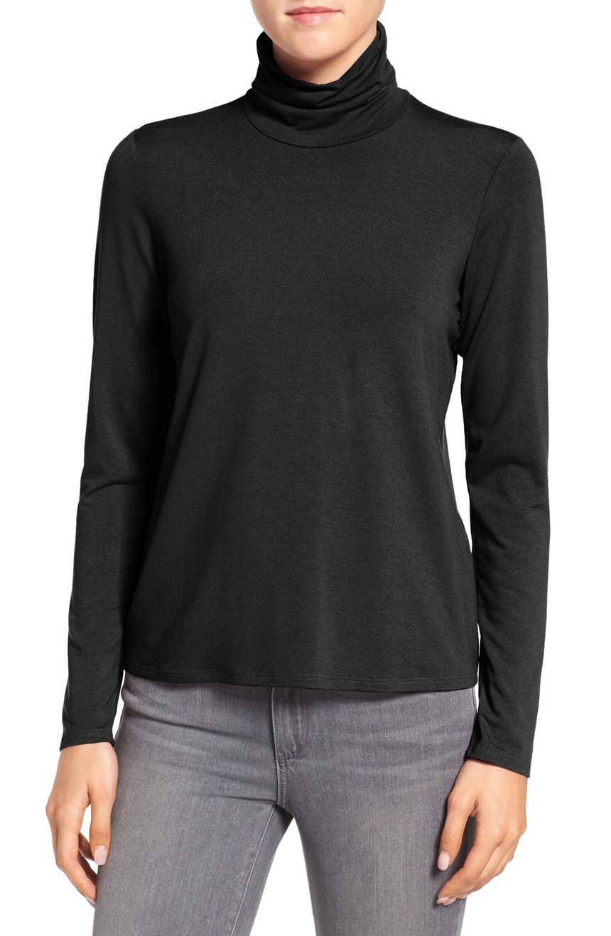 Eileen Fisher Scrunch Neck Top. Available in multiple colors. Nordstrom. Was: $98 Now: $39.