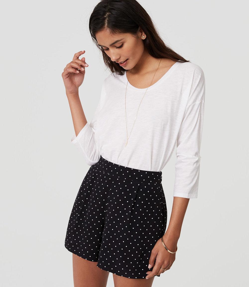 Polka Dot High Waisted shorts. Loft. $49.