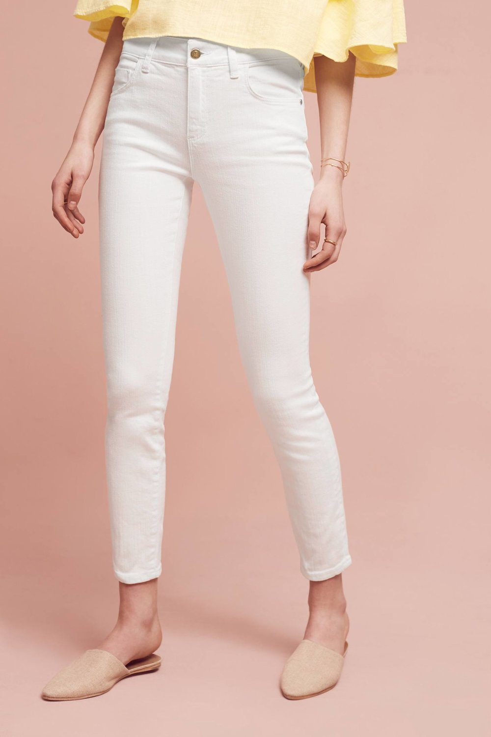 Pilcro Script High-Rise Skinny Jeans. Anthropologie. $128.