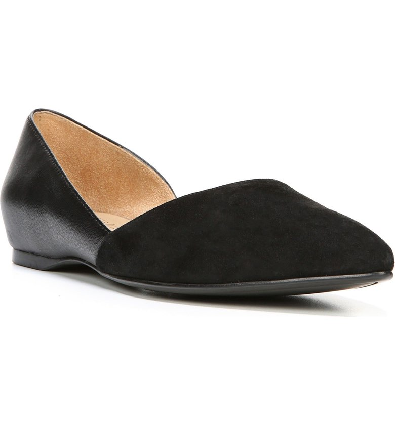Naturalizer Samantha Half d'Orsay Flat. Available in three colors. Nordstrom. $88.