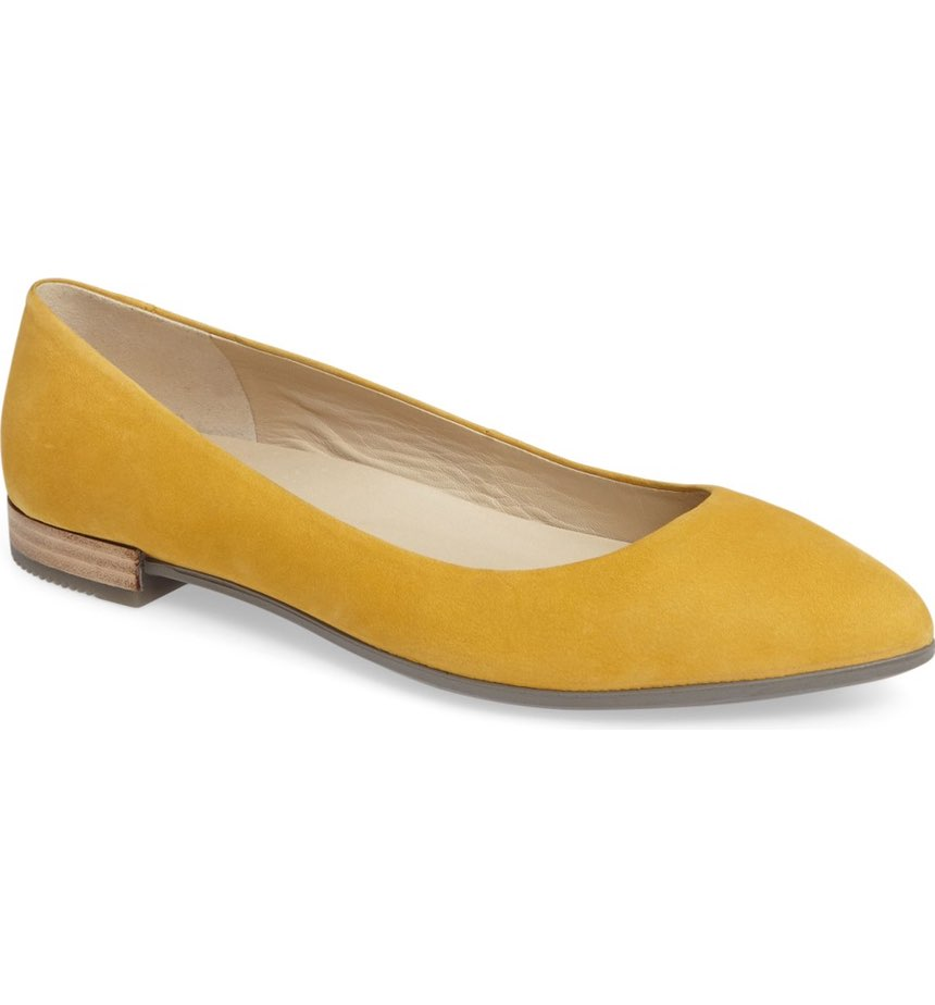 Ecco Shape Pointy Ballerina. Available in multiple colors. $139-149.