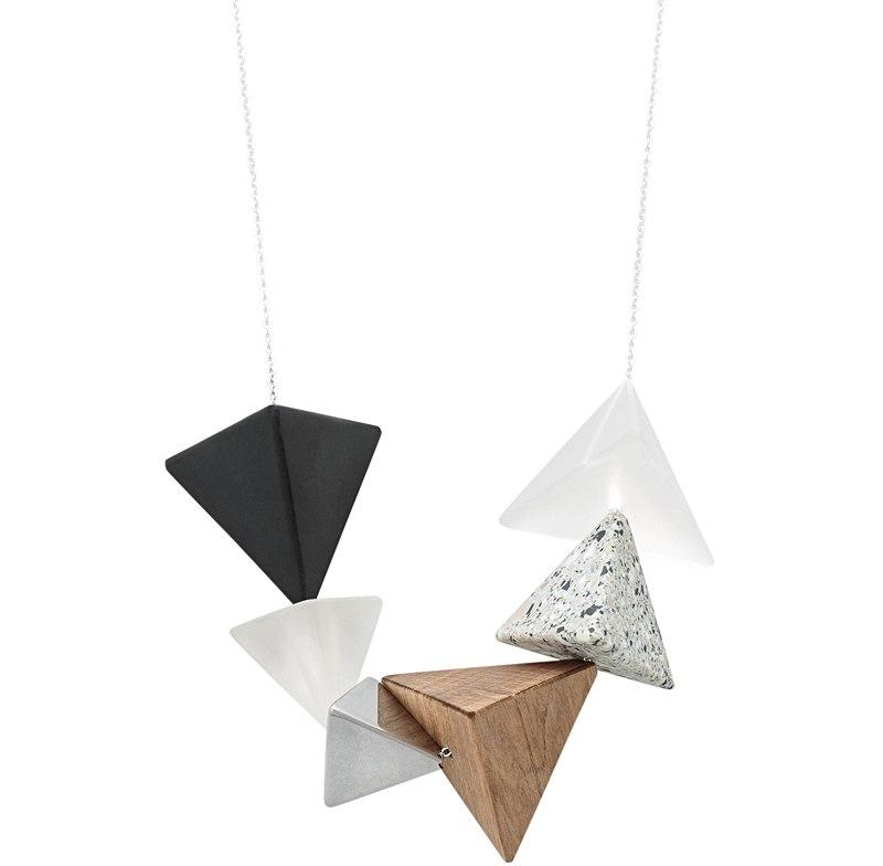 Zara Mixed Material Pyramid Necklace. Oliver Bonas. $29.