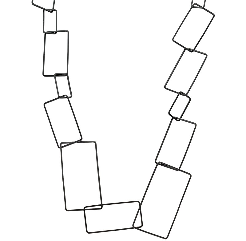 Rivka Long Interlinked Squares Necklace. Oliver Bonas. $34.