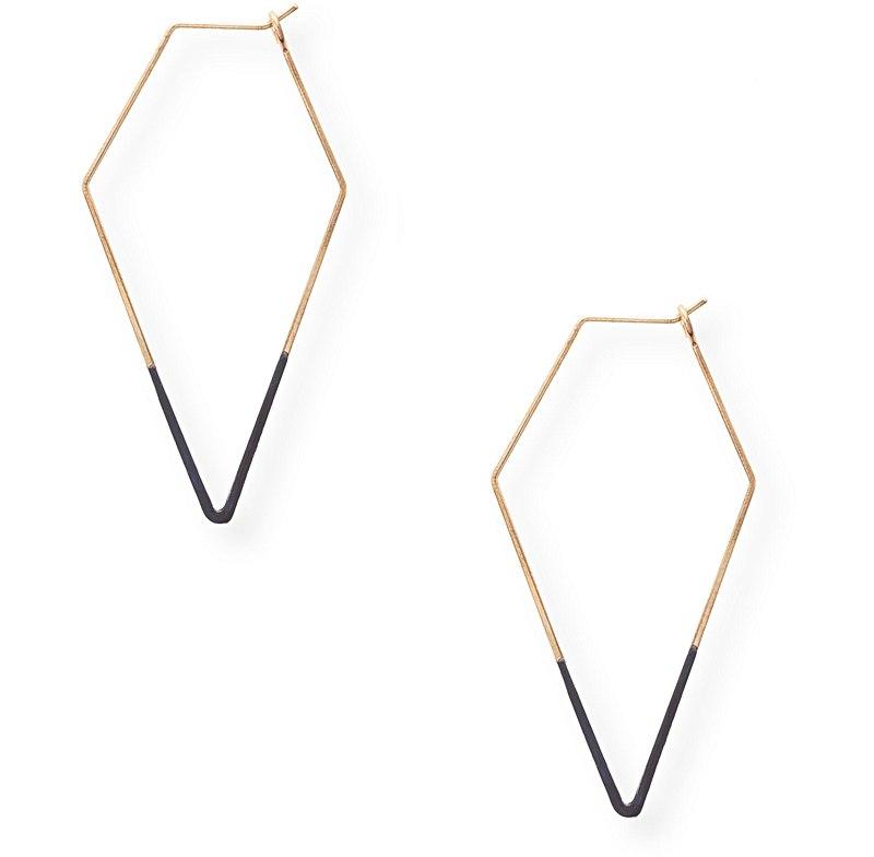Dipped Diamond Hoop Earrings. Oliver Bonas. $16.