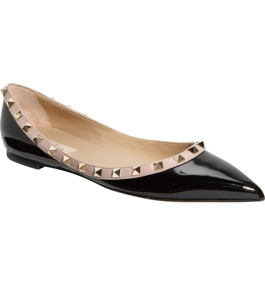 Valentino Rockstud Ballerina Flat. Available in multiple colors. Nordstrom. $745.