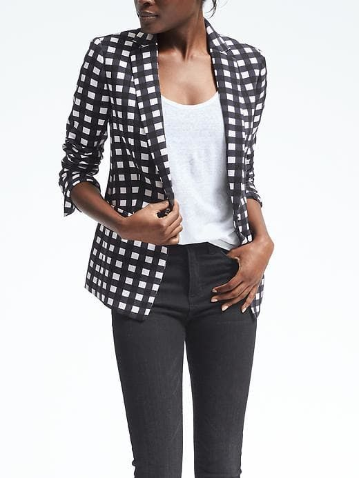 Gingham One-Button Blazer. Banana Republic. $178. Additional 40% off right now.
