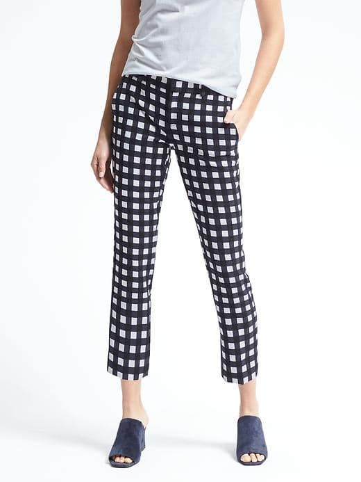 Avery-Fit Gingham Pant. Banana Republic. $98. Additional 40% off right now.