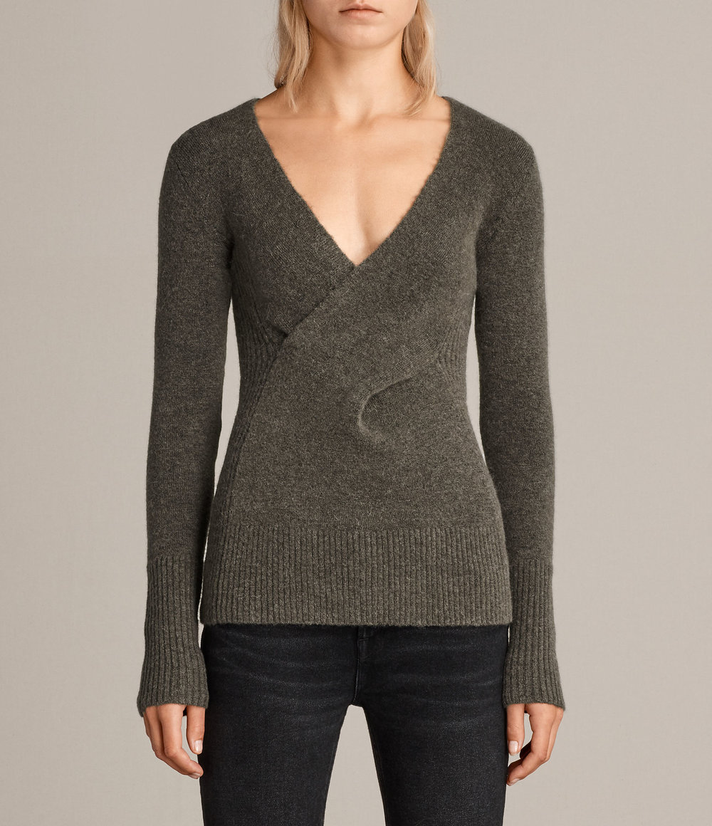 FARIA SWEATER. Available in three colors. All Saints. Was: $268. Now: $214.