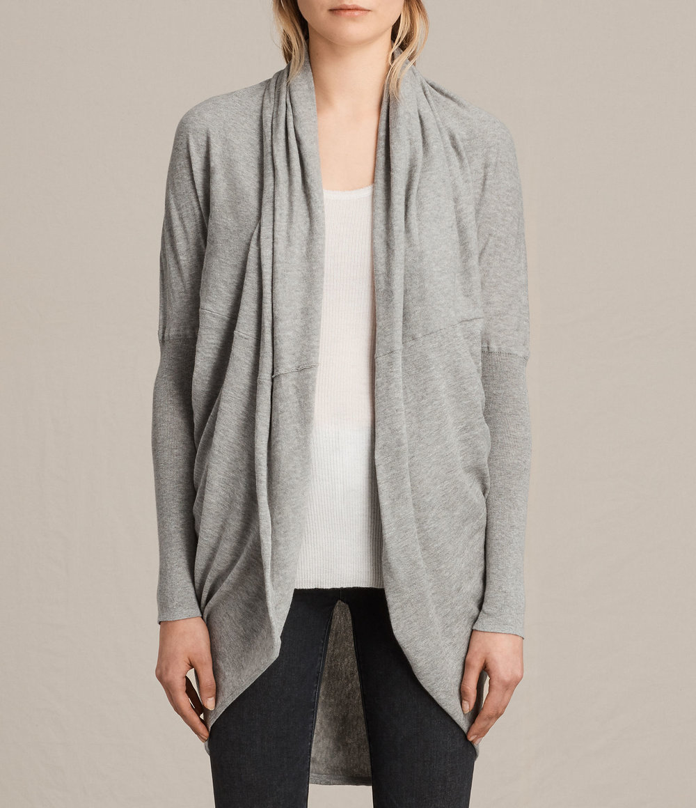 ITAT SHRUG CARDIGAN. Available in grey, black. All Saints. Was: $140. Now: $112.