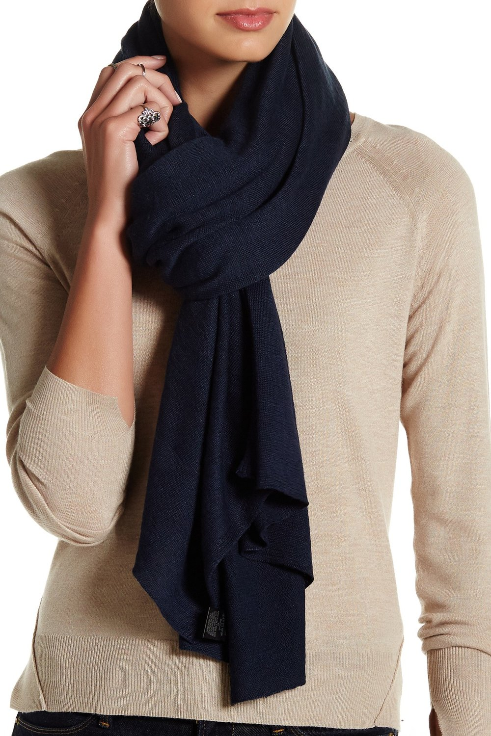 SKULL CASHMERE Emily Linen Scarf. Available in multiple colors. Nordstrom Rack. Was: $253. Now: $119.