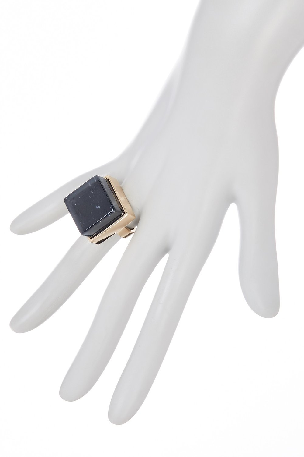 METAL AND STONE Square Black Crystal Ring. Listed separately in different sizes. Nordstrom Rack. $16.