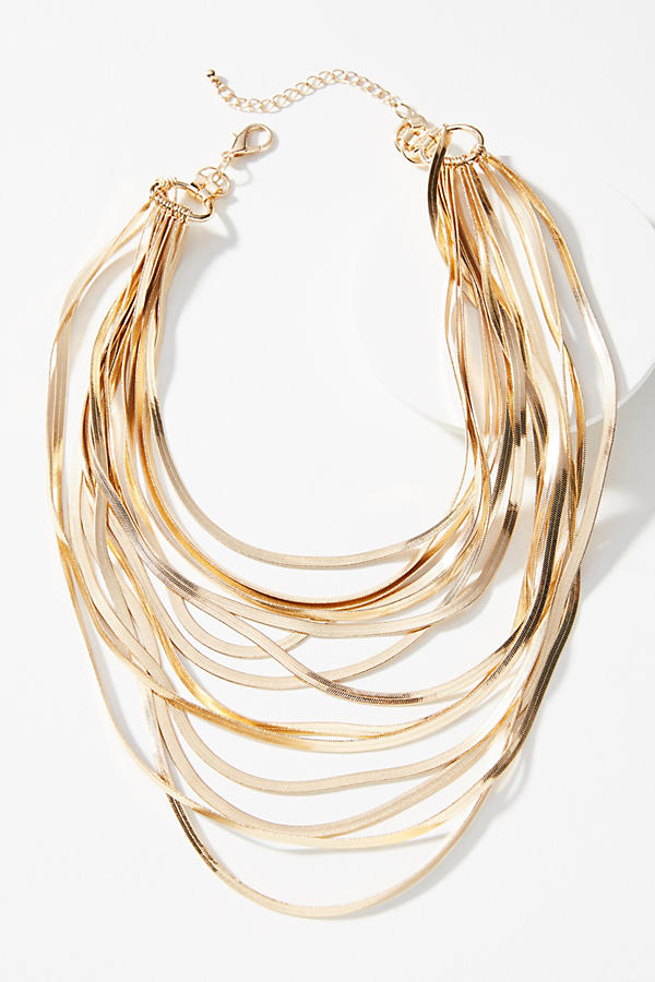 Snake Chain Layered Necklace. Anthropologie. $78.