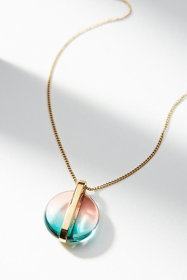 Gemology Lucite Orb Pendant Necklace. Available in two colors. Anthropologie. $148.