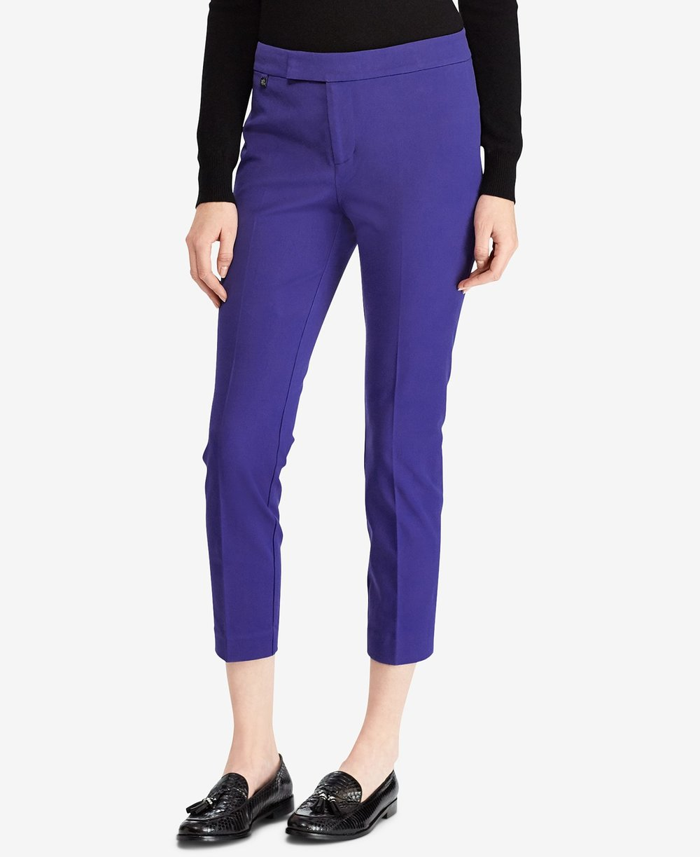 Lauren Ralph Lauren  Petite Twill Skinny Fit Pants. Macy's. Was: $89. Now: $66.