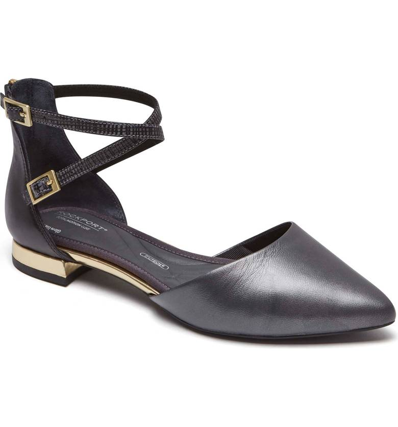 Rockport Total Motion® Zuly Luxe Cross Strap Flat. Available in multiple colors. Nordstrom. $129.