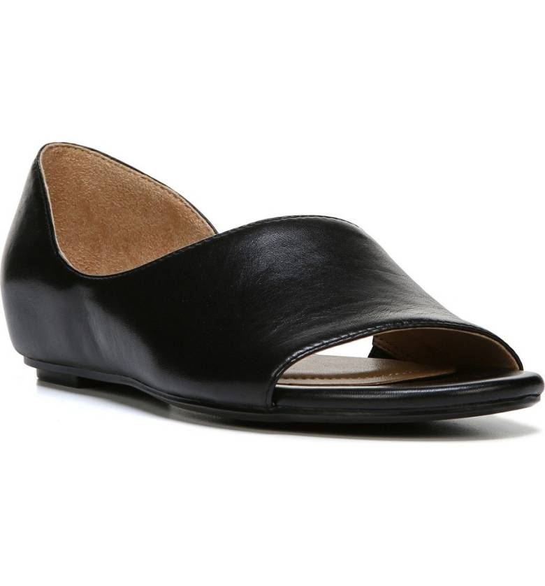 Naturalizer Lucie Half d'Orsay Flat. Nordstrom. Was: #84. Now: $79.