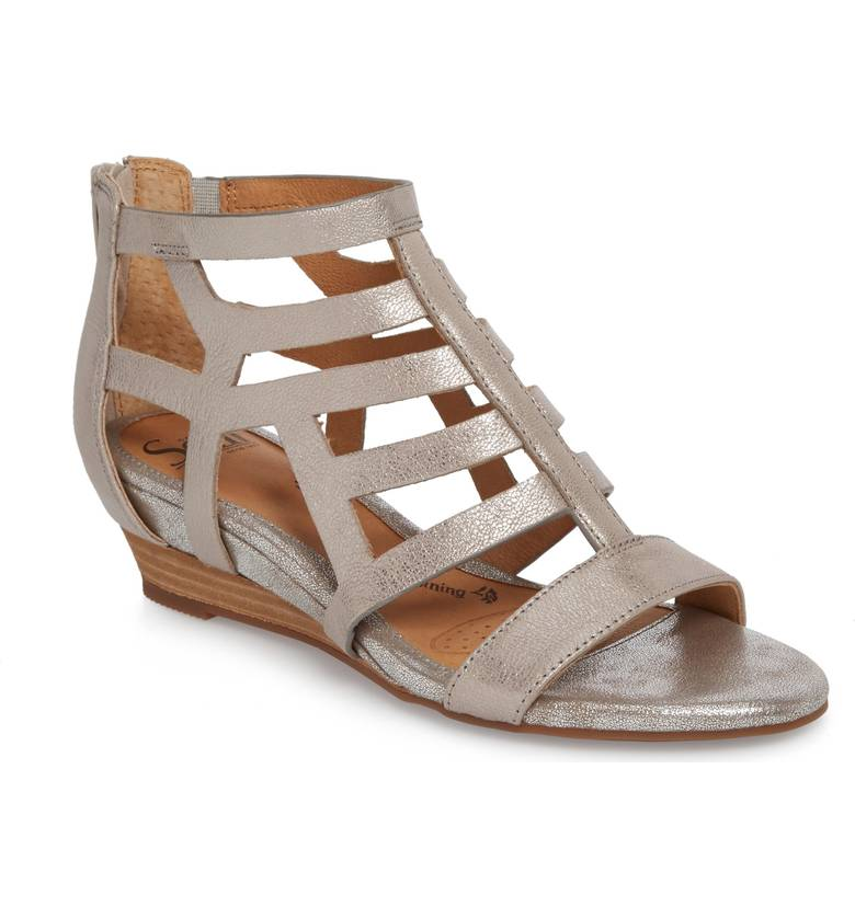 Sofft Ravello Wedge Sandal. Available in three colors. Nordstrom. $109.