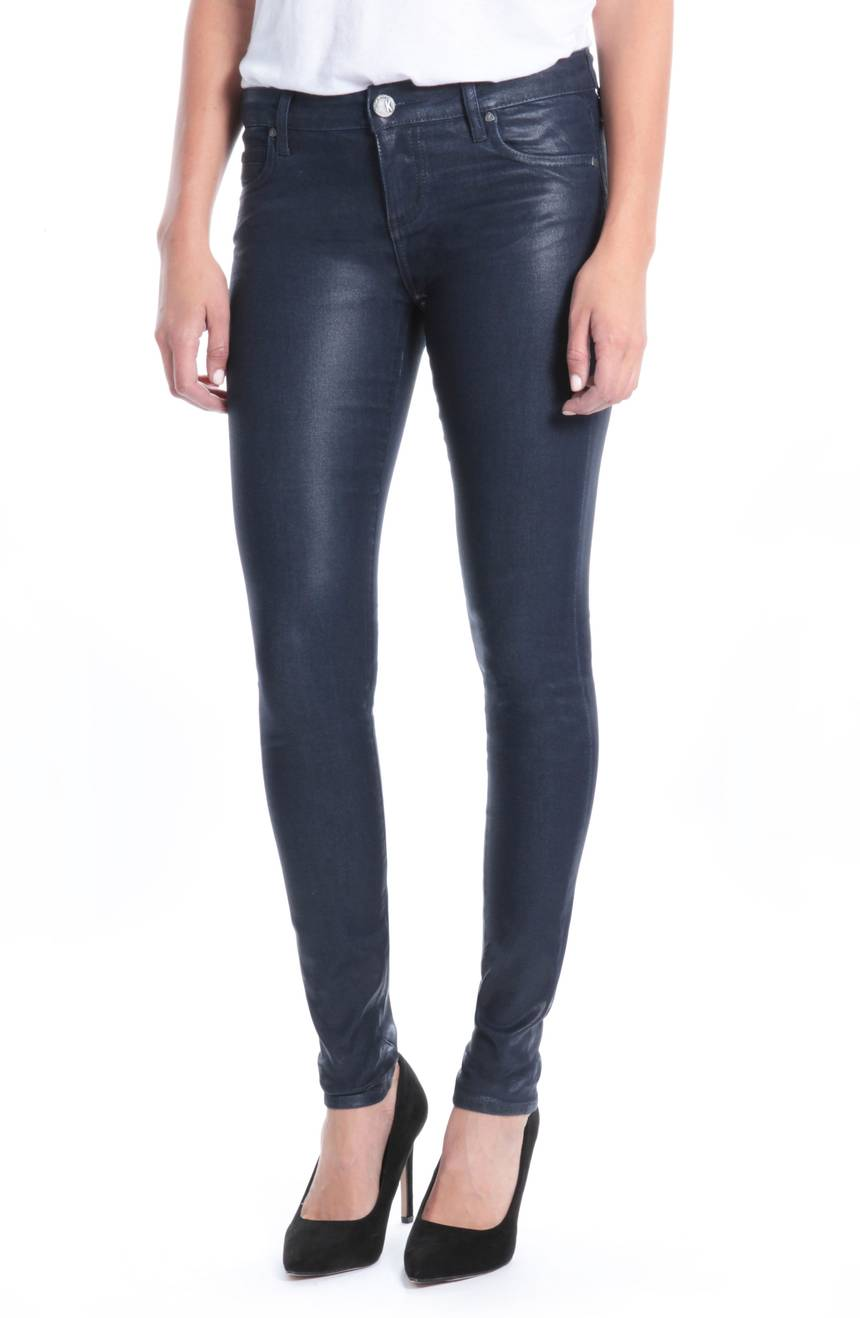 Kut from the Kloth Mia Navy Coated Jeans. (navy) Nordstrom. $89.