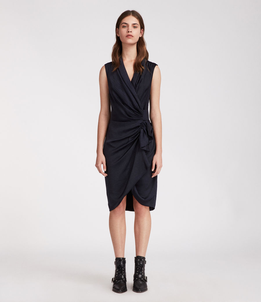 CANCITY DRESS. (this one is ink blue) All Saints. $228.
