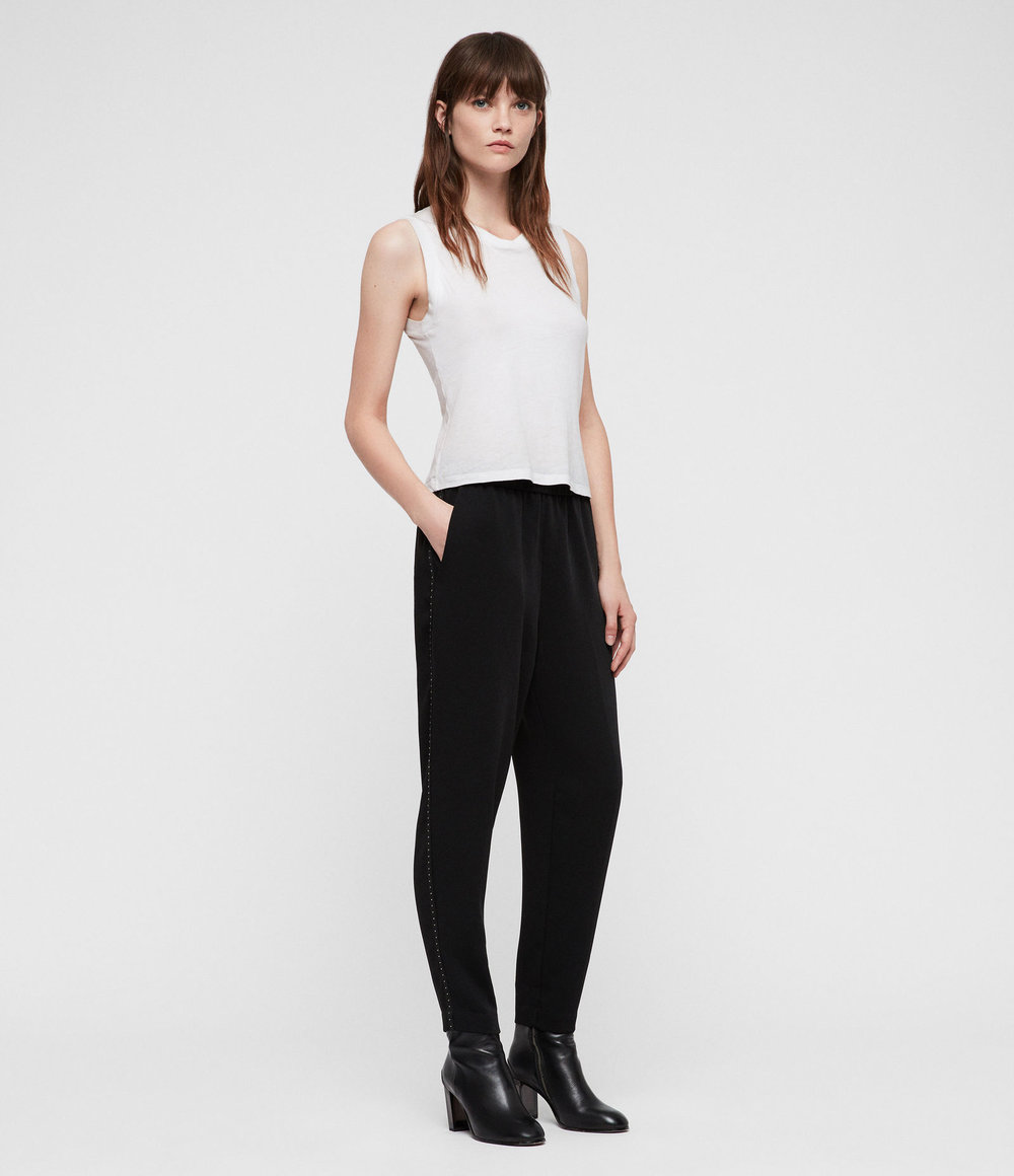 HELENA STUD TROUSERS. All Saints. $180. (There are studs down the side!)