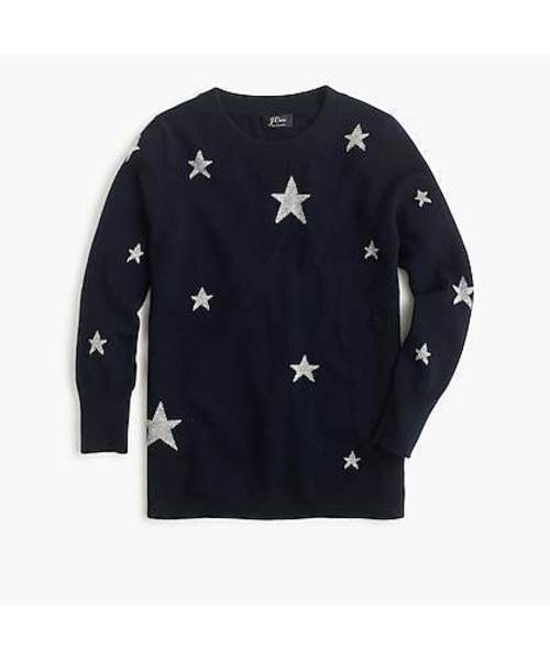 Everyday cashmere crewneck sweater with intarsia-knit stars. J. Crew. $125. Additional 25% off with code: READYTOPARTY.