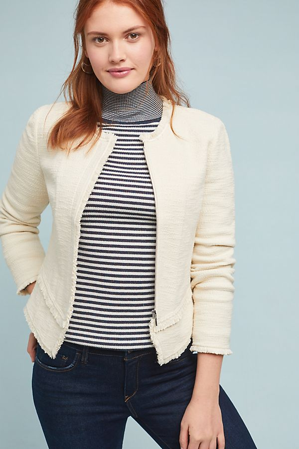 Bardot Knit Moto Jacket. Anthro. $150.