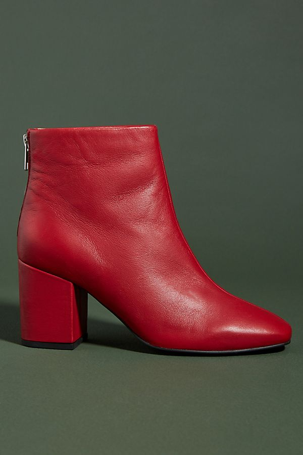 Liendo by Seychelles Polished Leather Ankle Boots. Anthro. $148.