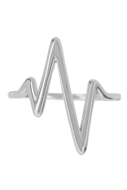 Sterling Forever Sterling Silver Heart Beat Ring. Nordstrom Rack. Was: $65. Now: $29.