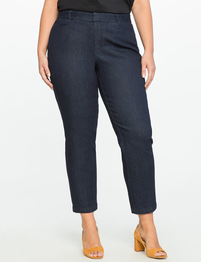 Kady Fit Denim. Available in long, regular lengths. Eloquii. $89. + 50% off with code: YESPLEASE.