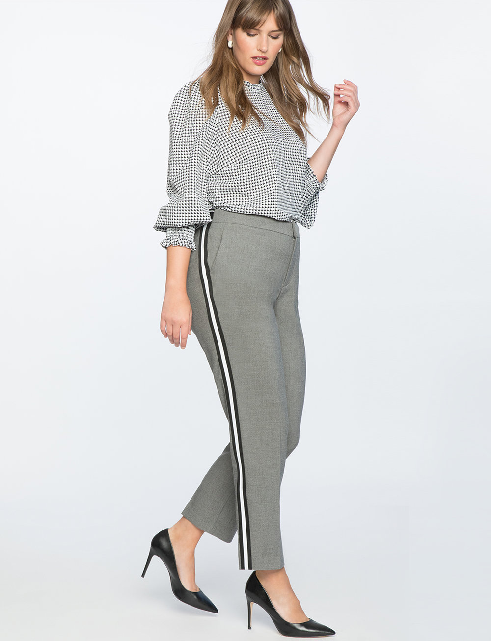 Slim Leg Trouser With Side Stripe. Eloquii. $89. + 50% off with code: YESPLEASE. (Wear as ankle pants).