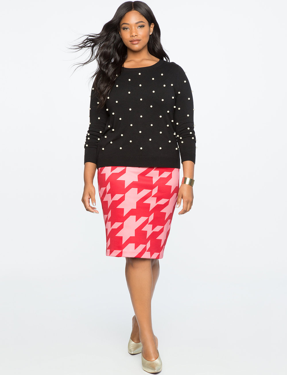 Neoprene Pencil Skirt. Available in a zillion colors, prints. Eloquii. $69 + 50% off with code: YESPLEASE.