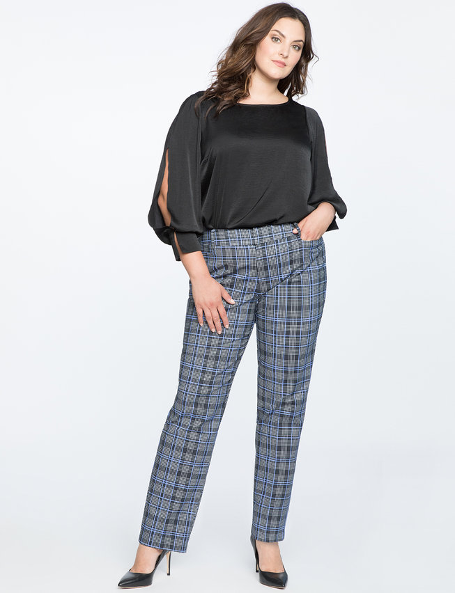 Kady Doubleweave Plaid Pant. Eloquii. $89. + 50% off with code: YESPLEASE. (will wear as ankle pants)