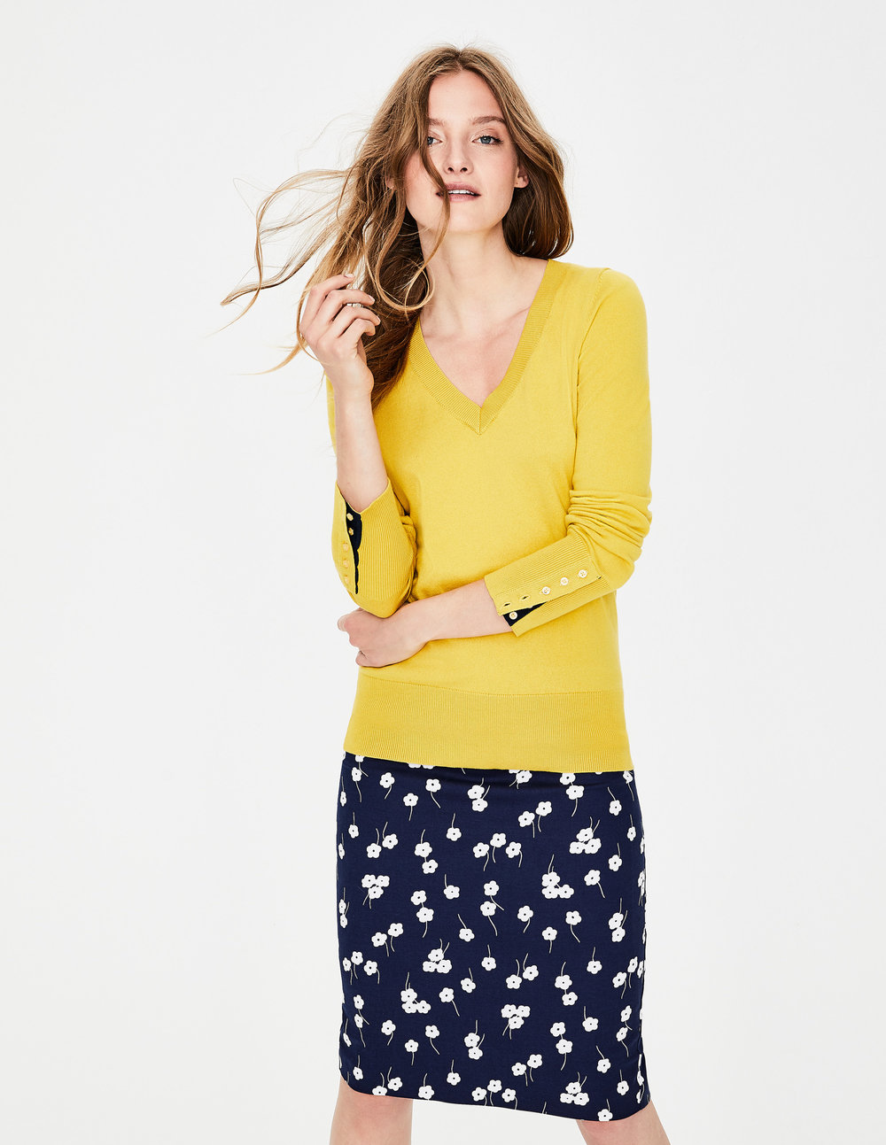 TILDA V NECK SWEATER. Available in multiple colors. Boden. Was $80.00. Now $48.00 To $80.00.