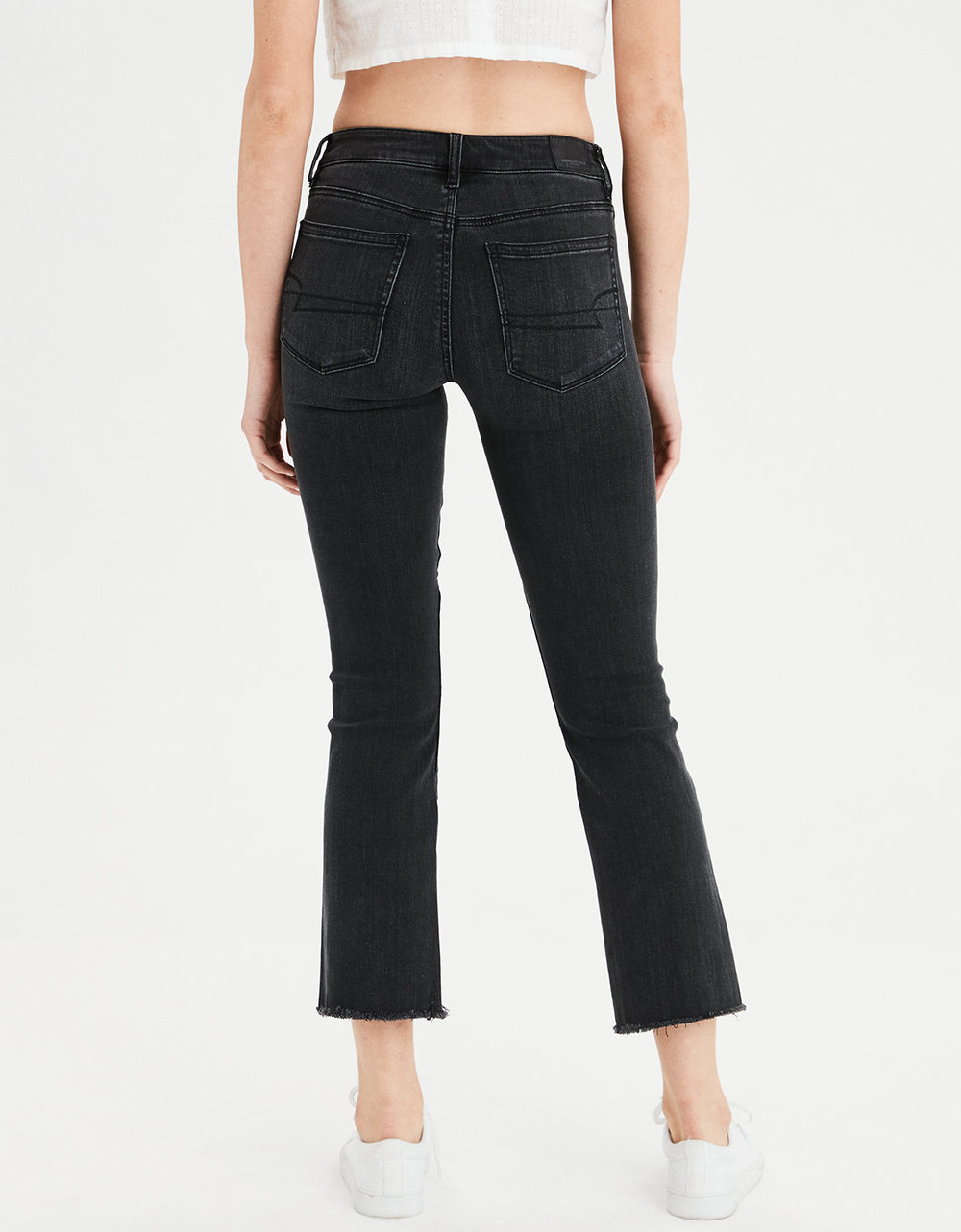 HIGH-WAISTED CROP FLARE JEAN. Available in long. American Eagle. Was: $49. Now: $37.