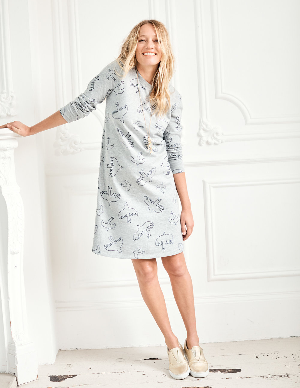 SWEATSHIRT DRESS. Available in long. Boden. Was: $98. Now: $58-68.