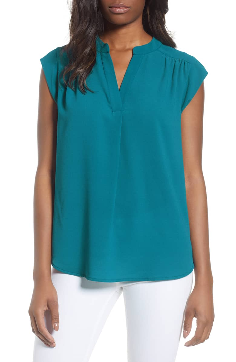Gibson Split Neck Top. Available in two colors. Nordstrom. Was: $54. Now: $36.