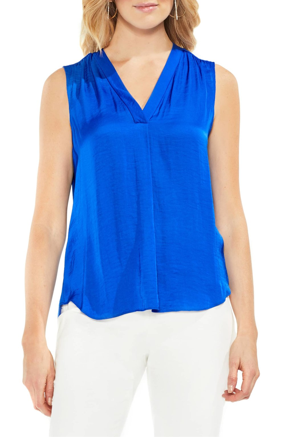 Vince Camuto Rumpled Satin Blouse. Available in a zillion colors. Was: $59. Now: $32.45–$38.90.