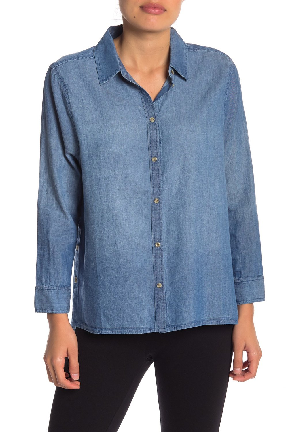 Melrose and Market Side Button Chambray Top. Nordstrom Rack. $34.