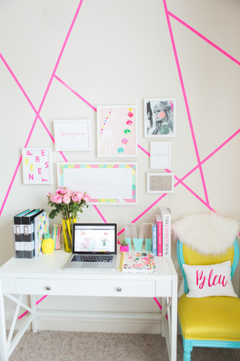 Check out   Bleu's Super Cute Home Office Space
