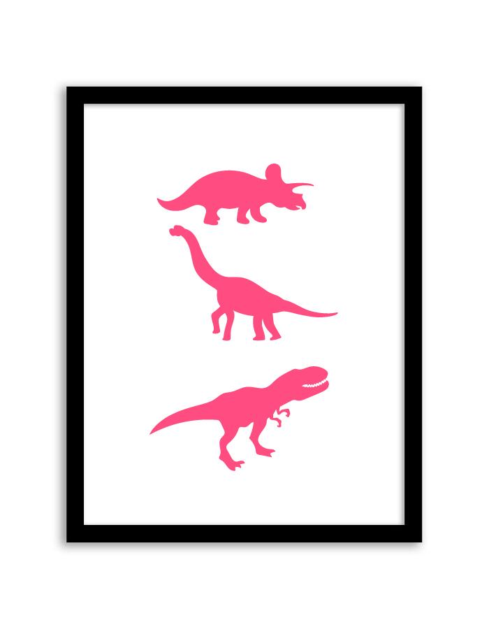 Pink Dinosaur Print - Free