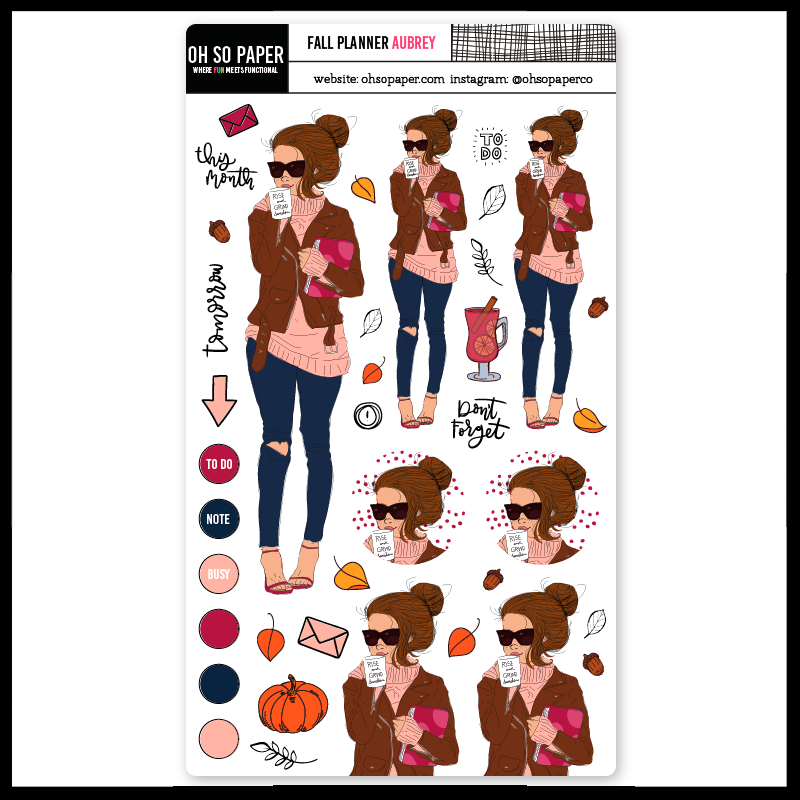 Fall-Planner-Aubrey Sticker Set for Planners