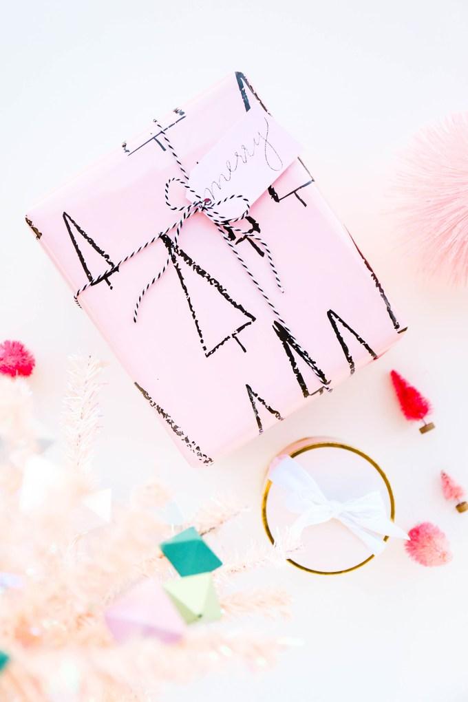 Pink Tree Gift Wrap