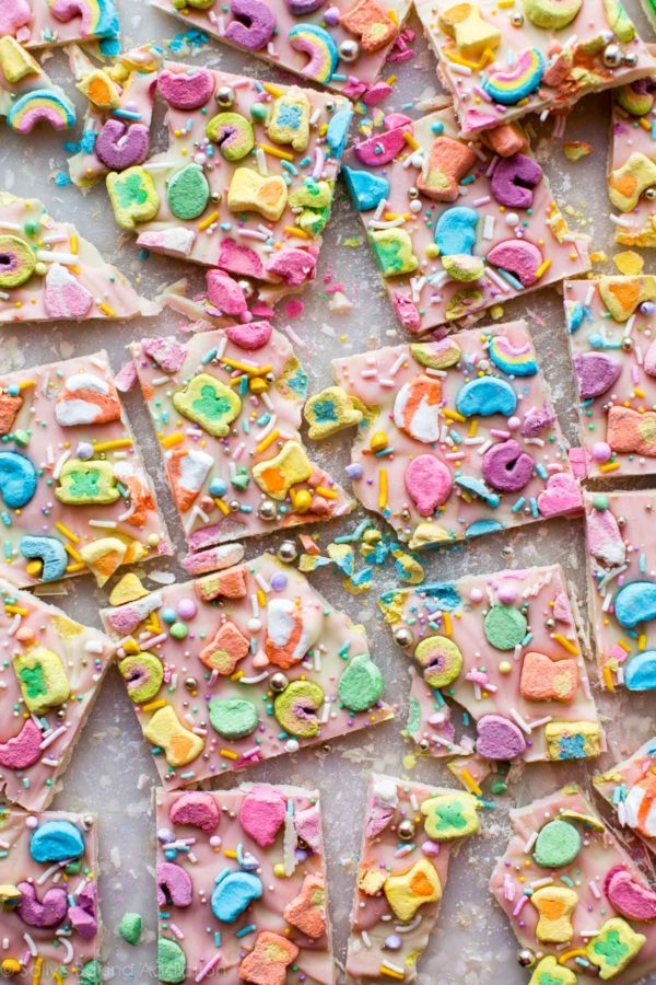 3 Ingredient Lucky Charms Bark