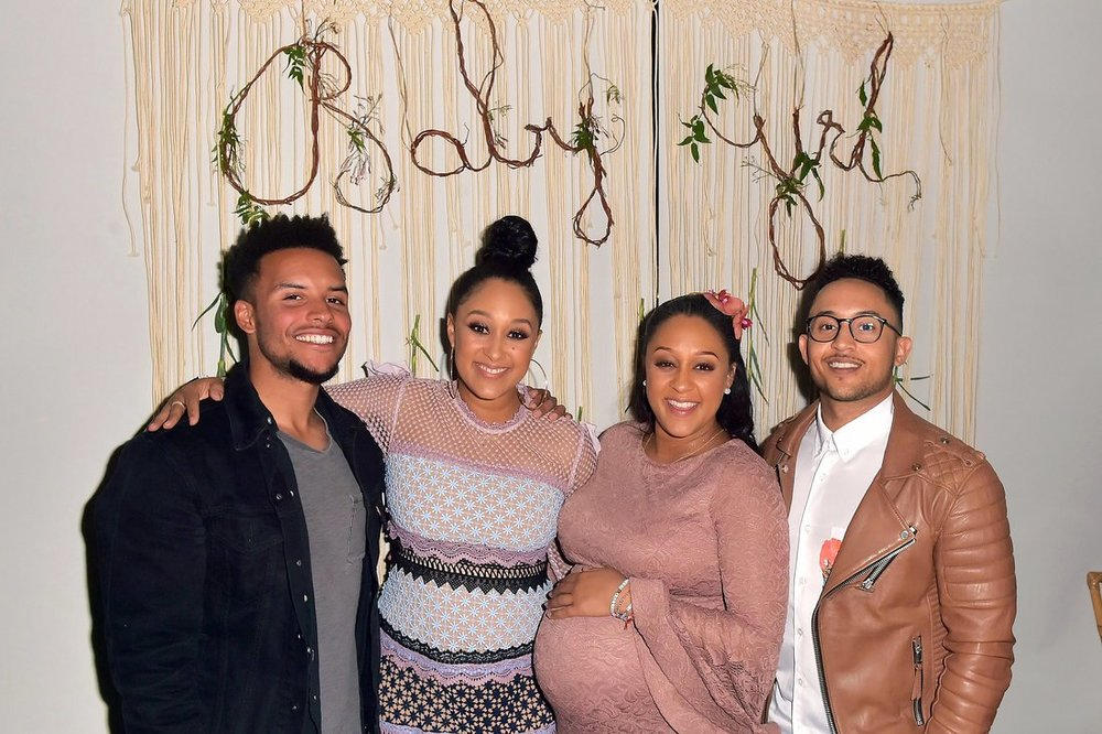 Credit: Photo by MediaPunch/Shutterstock (9489187ao) Tamera Mowry-Housley, Tia Mowry-Hardrict, Tahj Mowry Tia Mowry's Baby Shower, Il Pastaio, Los Angeles, USA - 31 Mar 2018