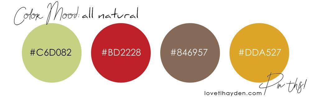 allnaturalcolors | mood board | lovetlhayden | color ideas