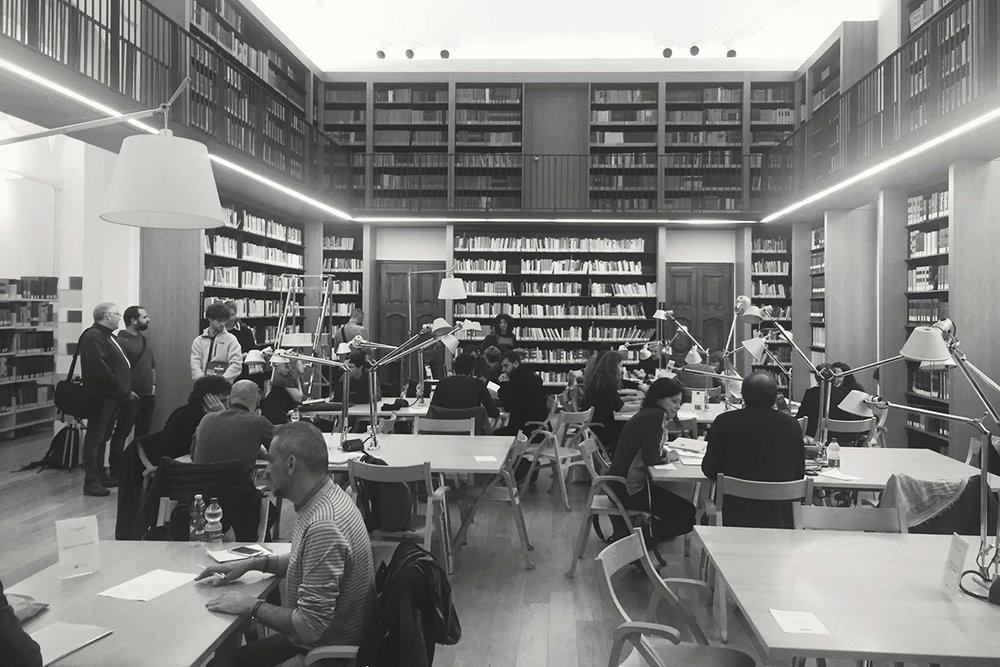 Letture portfolio presso la Biblioteca Laudense