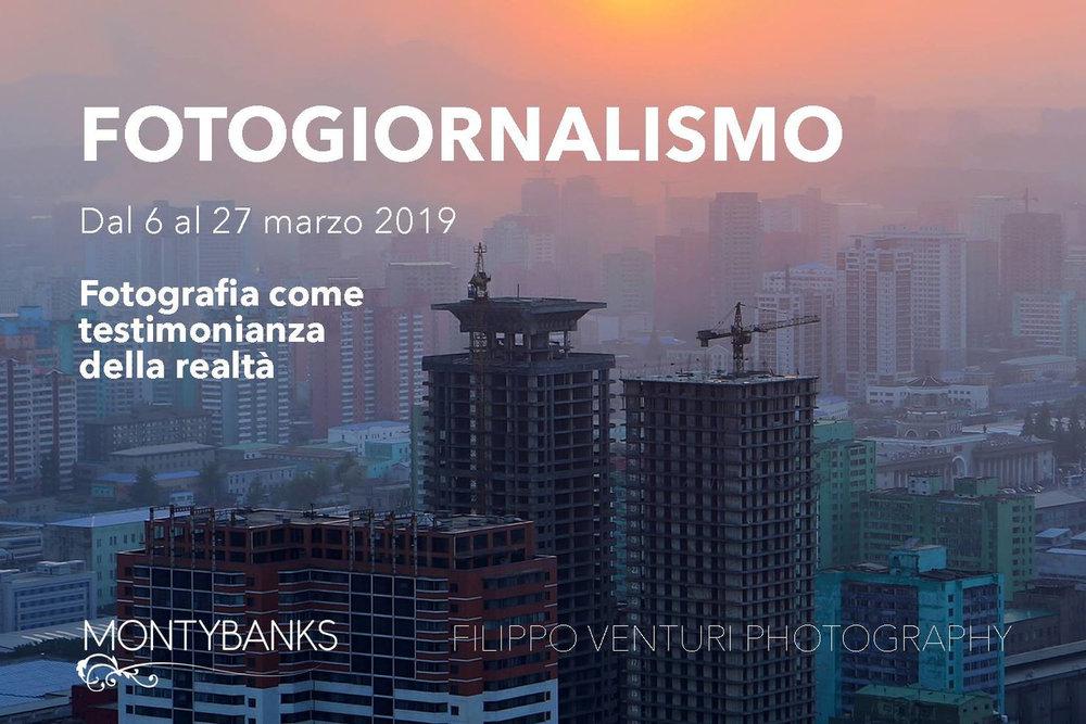 Workshop di Fotogiornalismo - Cesena (FC), 6-13-20-27 Marzo 20194 Lezioni teoriche in aulaOrganizzato da Monty Banks